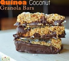 Quinoa Coconut Granola Bars- Super Healthy Kids